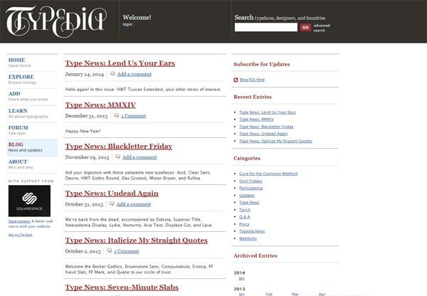 Typedia: Blog