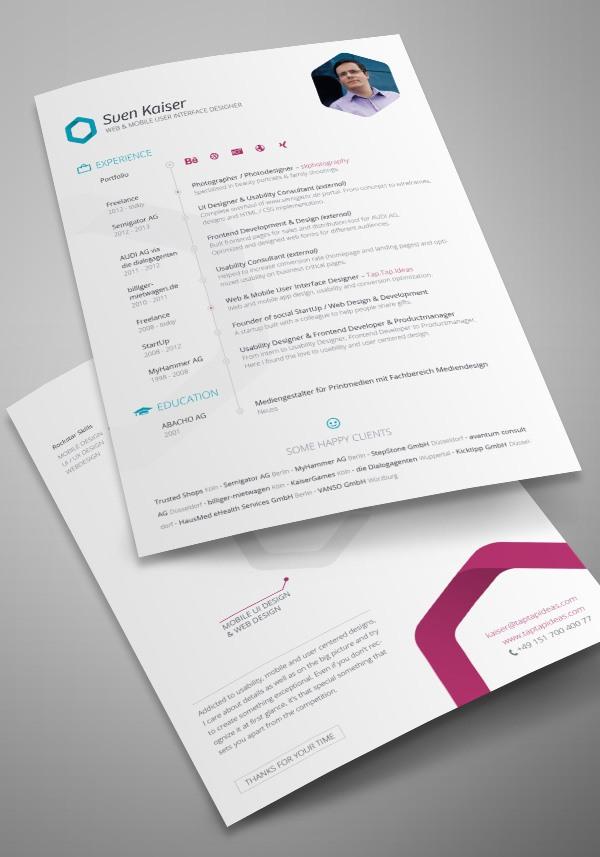 30 creative resume designs for inspiration