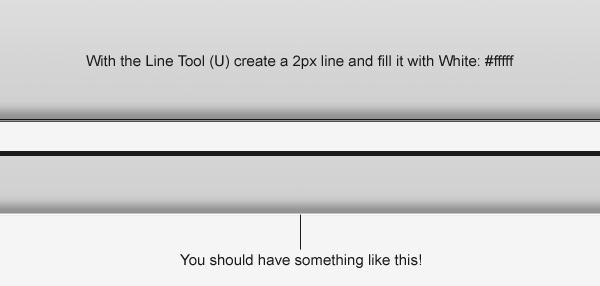 Create a 2px line