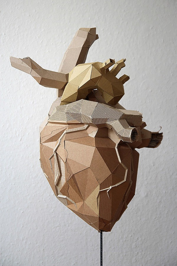 Stunning Sculptures Made Out of Cardboard