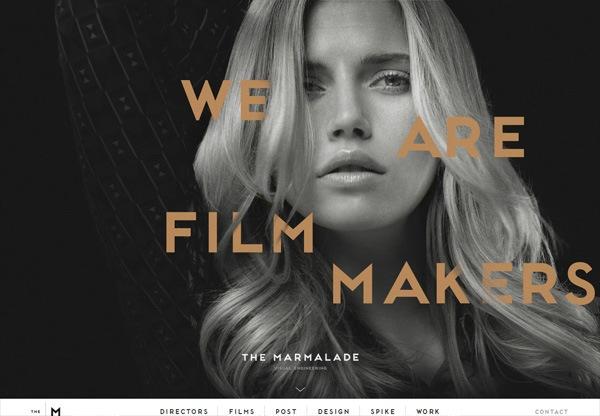 Dark web design example: The Marmalade