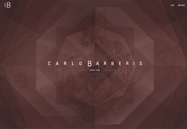 Dark web design example: Carlo Barberis