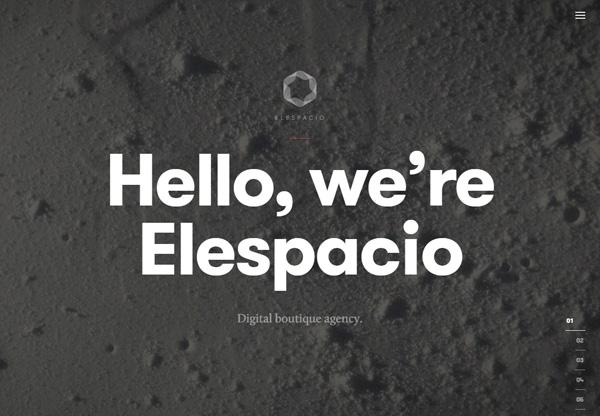 Dark web design example: Elespacio