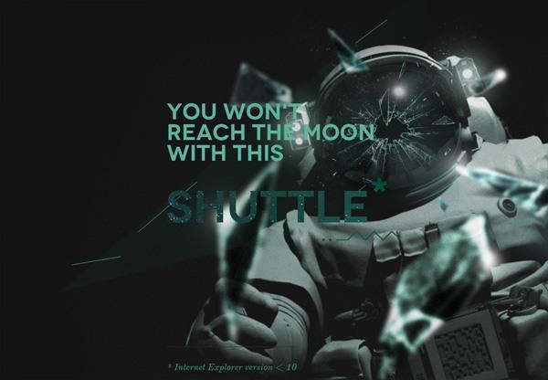 Dark web design example: Mooncamp