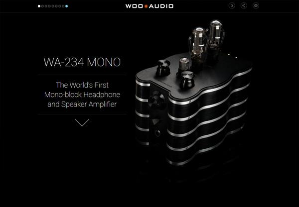 Dark web design example: 234 MONO