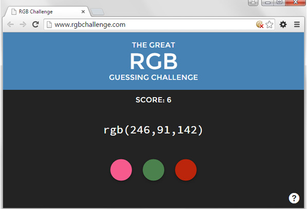 RGB color challenge