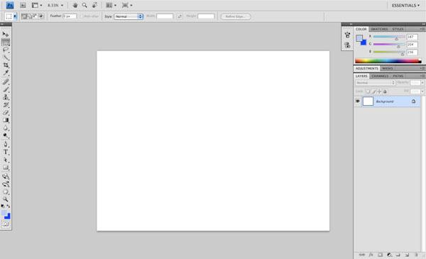 Create a New Photoshoop Document
