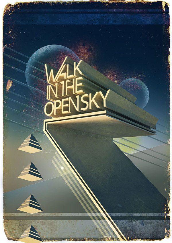 Walk in the open sky