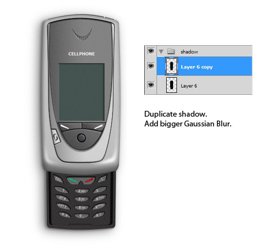 How to Draw a Realistic Cellphone in Photoshop