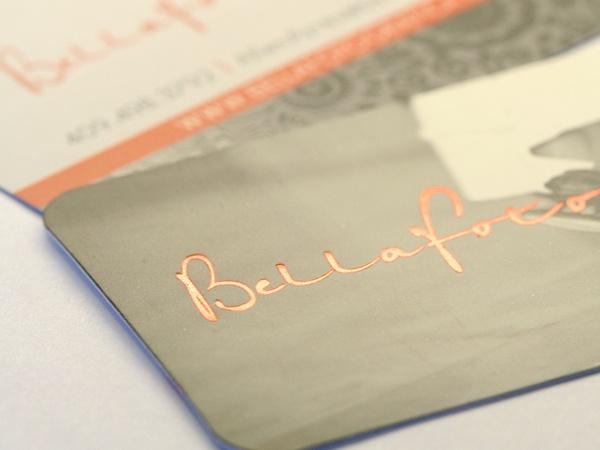 silk laminate business card