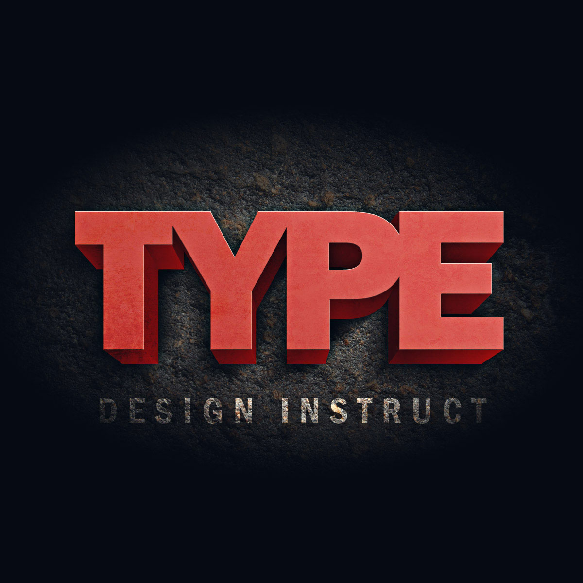 Create a Dark Grunge 3D Text Scene in Photoshop