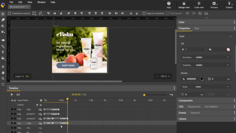 Outil de conception Web: Google Web Designer