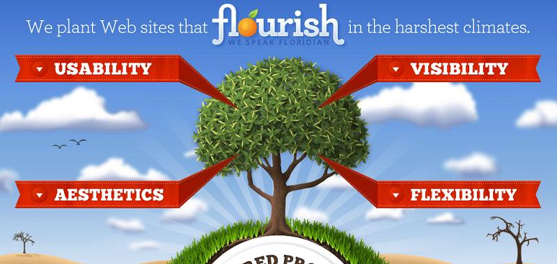 flourish website header illustration