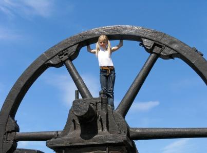 A massive flywheel