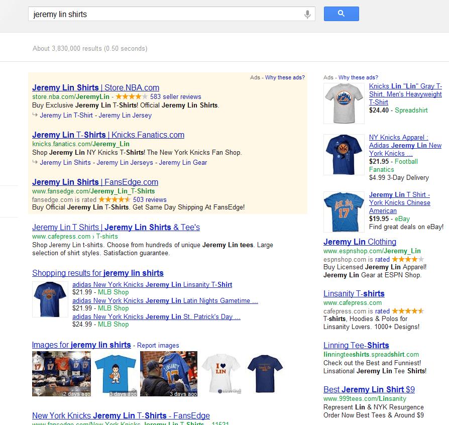Jeremy Lin Search