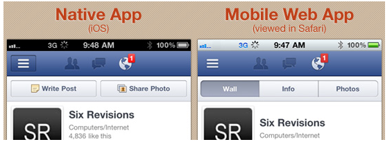 Native App vs  Mobile Web App: A Quick Comparison