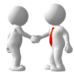 Shaking hands with your client