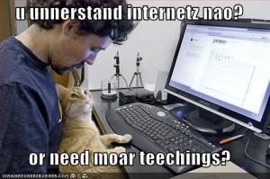 teaching lolz cat