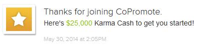 CoPromote Karma Cash