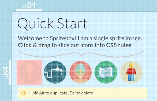 Spritebox - CSS Sprites