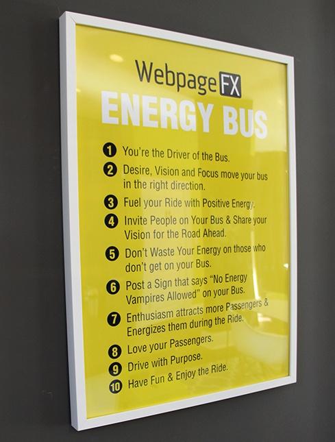 WebFX Energy Bus Poster