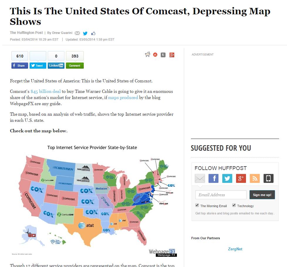 feature on Huffington Post