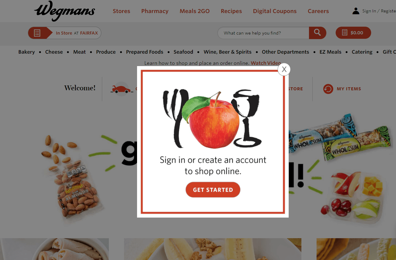 Wegmans account signup for emails