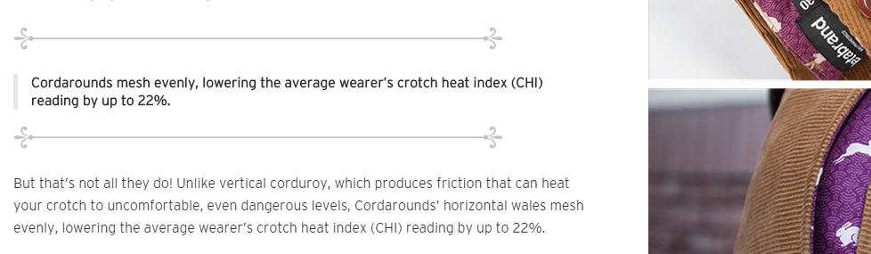 crotch heat index
