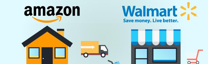 Amazon vs. Walmart [Infographic]