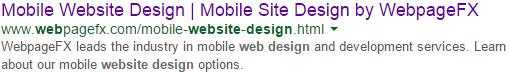meta description on google