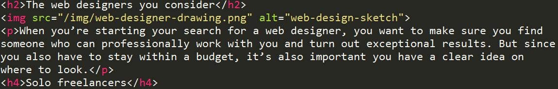 block HTML code