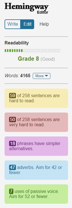 hemingway-copywriting-tool-results