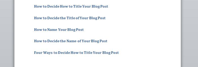 writing-working-titles