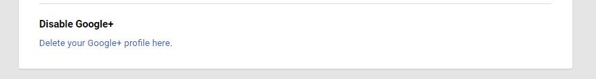 Delete Google+ option