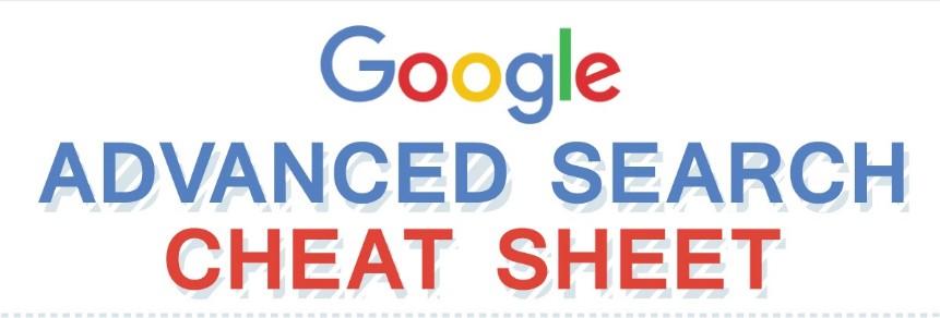 Google Advanced Search Operators Cheat Sheet [Infographic]