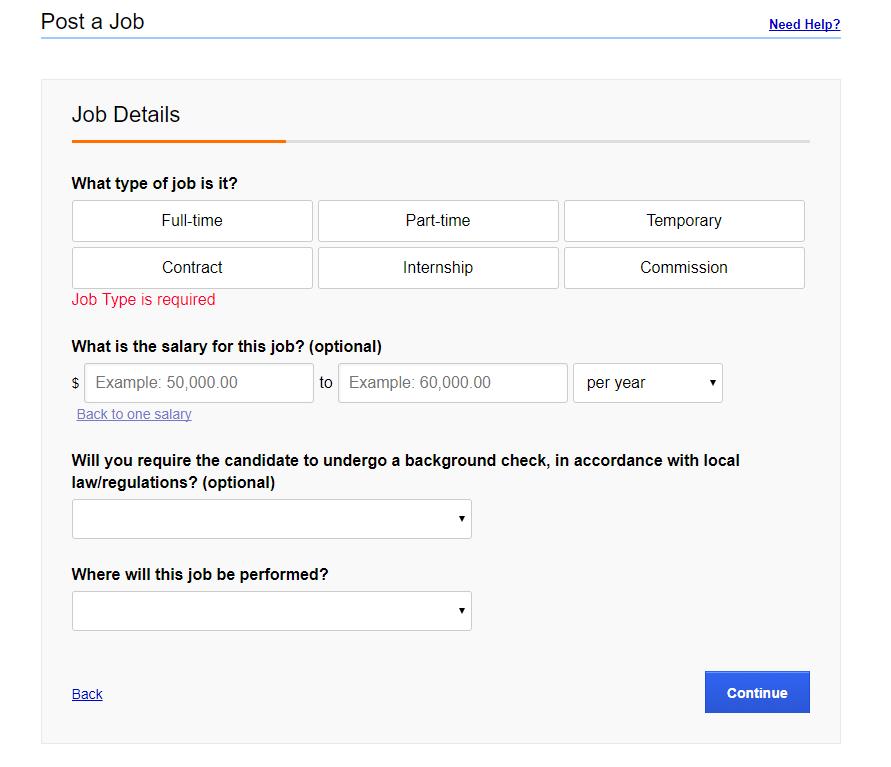 Indeed Job Details