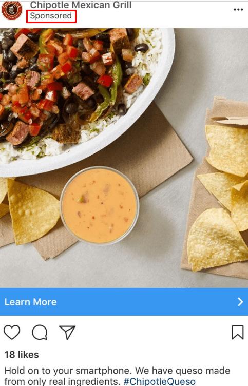 chipotle sponsored ad