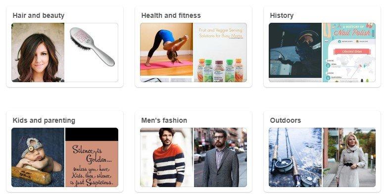 pinterest-categories