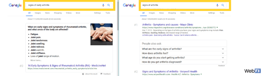 An example of Google's advanced NLU