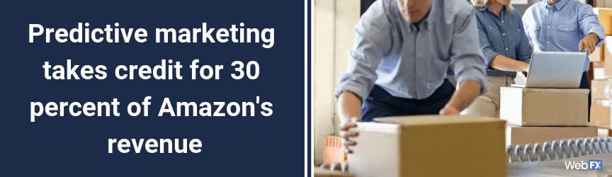 Predictive marketing takes credit for 30 percent of Amazon's revenue