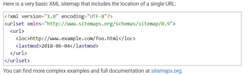 用于SEO网站重新设计的XML网站地图示例