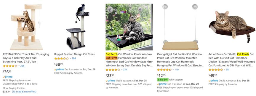 亚马逊产品标题示例中的关键字