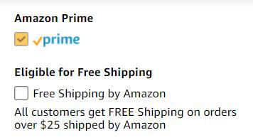 亚马逊Prime过滤器