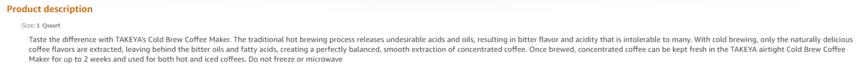 亚马逊产品描述示例