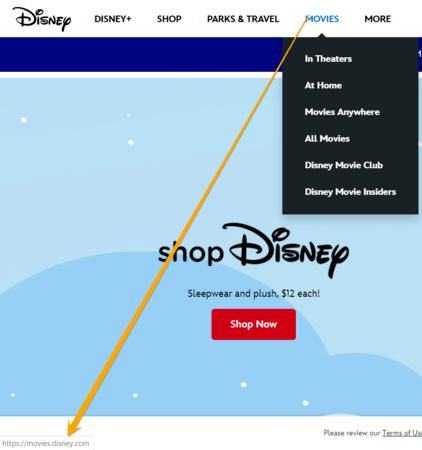 Disney subdomain example