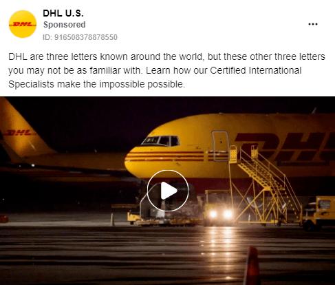 Facebook B2B advertising example