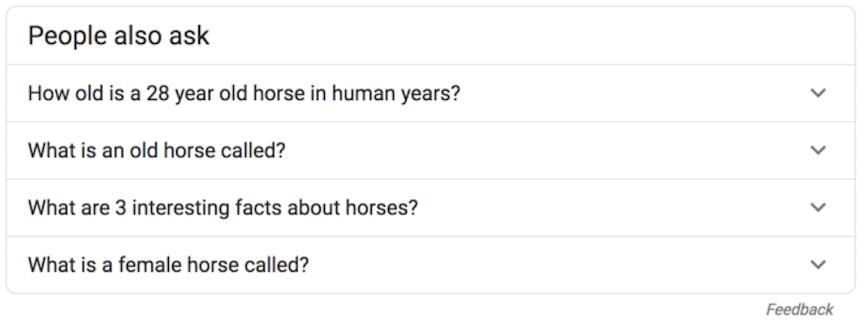 Хората Също така задайте кутия с въпроси за коне
