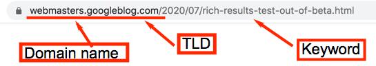 Google rich results URL