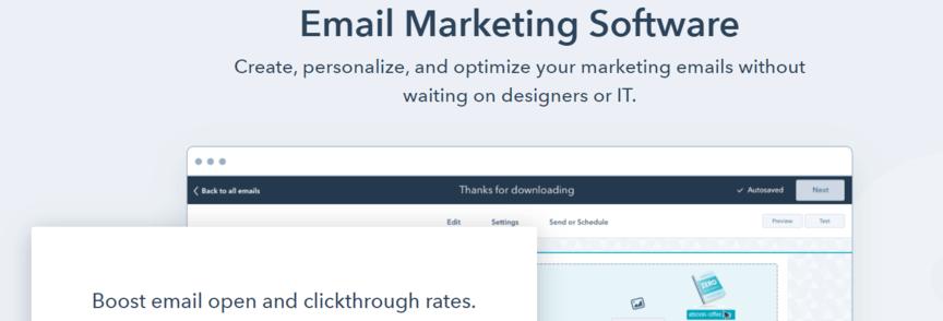 Email marketing tool: Hubspot