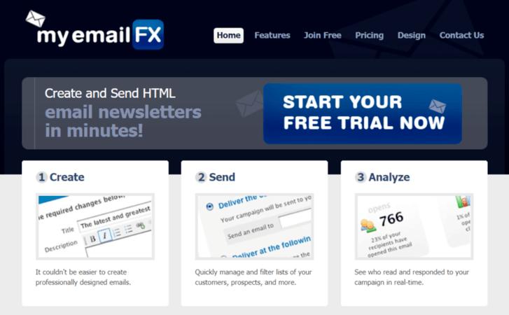 Email marketing tool: MyEmailFX